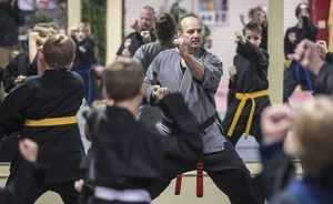 Sifu Adkins Teaching a Children's Class